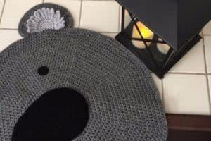 4 imagenes de hermosos tapetes tejidos a crochet faciles