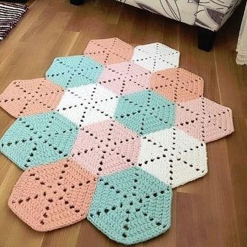 tapetes tejidos a crochet paso a paso