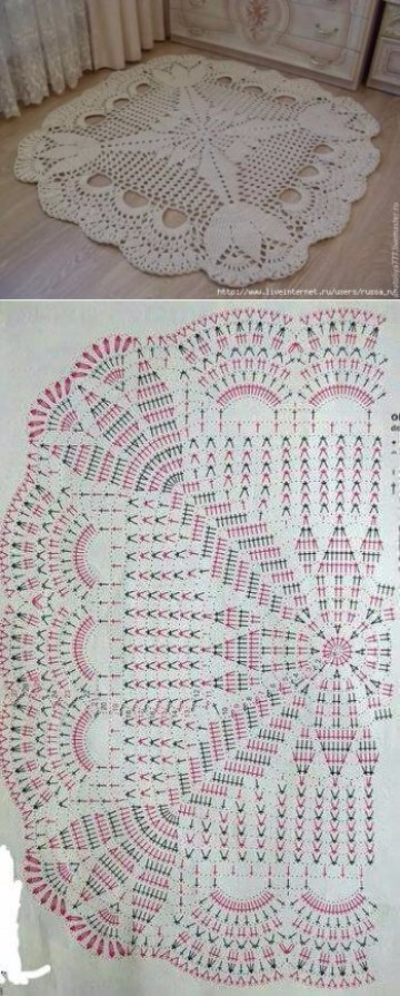 tapetes tejidos a crochet patrones