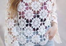 Hermosos y faciles diseños de tejido de gancho para blusas