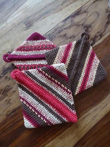 agarraderas a crochet paso a paso colores