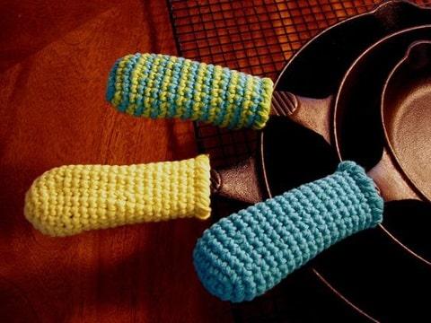 agarraderas a crochet paso a paso sarten