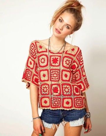 blusas en crochet para dama hippiechic