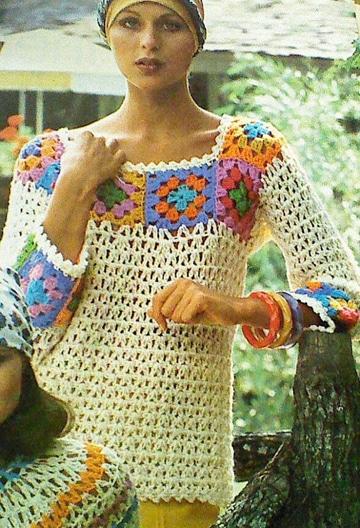 blusas en crochet para dama larga