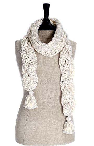 bufandas tejidas con gancho larga