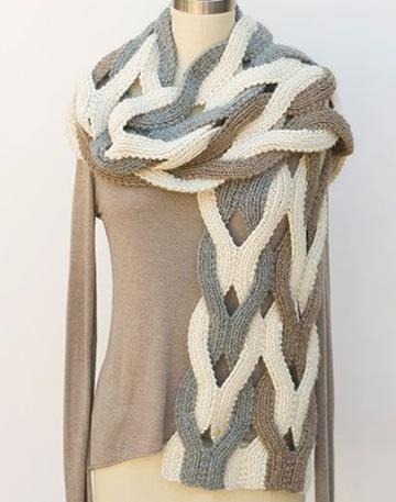 bufandas tejidas con gancho moderna