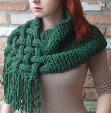 bufandas tejidas con gancho para mujer
