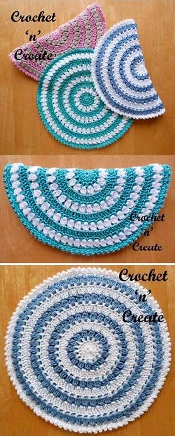 carpetas en crochet para principiantes faciles