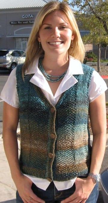 chalecos tejidos a crochet utilisima corto