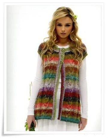 chalecos tejidos a crochet utilisima en colores