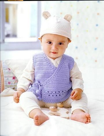 chalecos tejidos para niños bebes