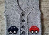 Modelos hermosos y unicos de chalecos tejidos para niños