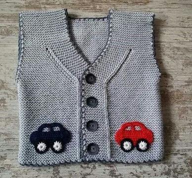 chalecos tejidos para niños carros