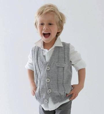 chalecos tejidos para niños grandes