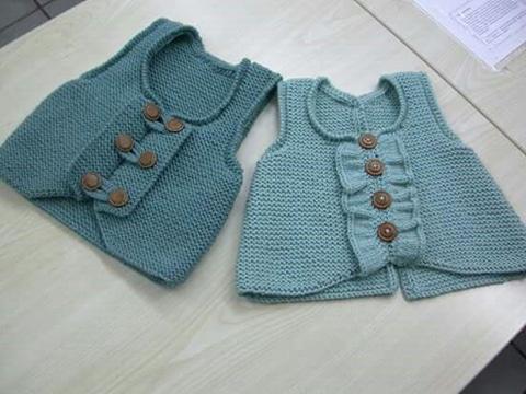 chalecos tejidos para niños modernos