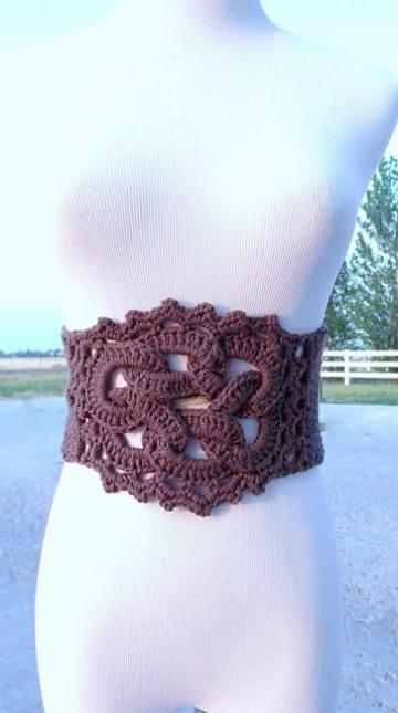 cinturones tejidos a crochet a mano
