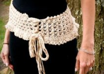 Modelos de cinturones tejidos a crochet muy faciles