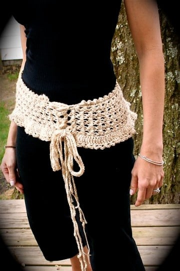 cinturones tejidos a crochet macrame