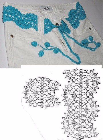 cinturones tejidos a crochet para niñas