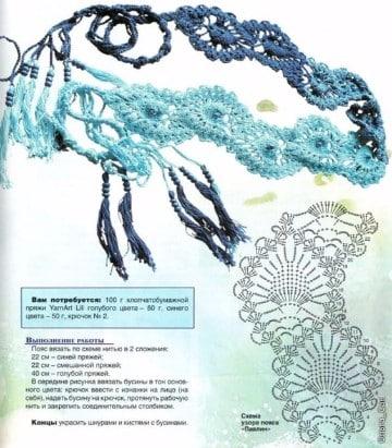 cinturones tejidos a crochet paso a paso