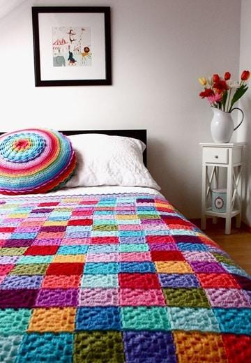 colchas de crochet paso a paso de colores