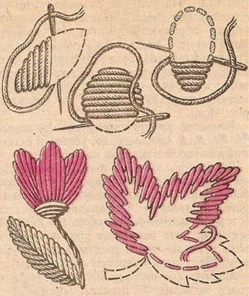 como bordar servilletas paso a paso diseño