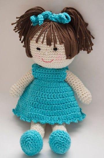 como hacer muñecos de crochet para niña