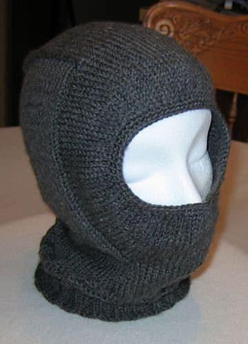 como hacer un pasamontañas de lana
