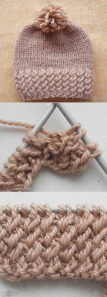como tejer gorros con dos agujas modelo