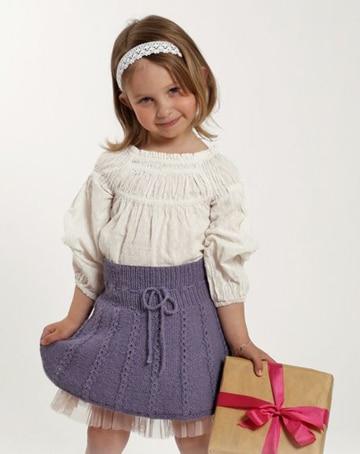 faldas tejidas para niña a gancho