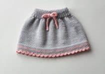 Modelos modernos y sencillos de faldas tejidas para niña
