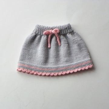 faldas tejidas para niña gris