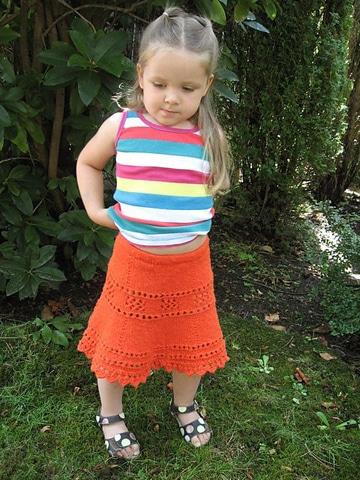 faldas tejidas para niña larga