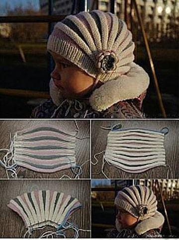 gorros de lana para niños patrones tecnica