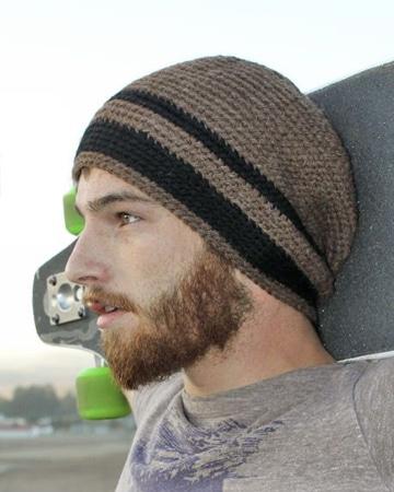 gorros tejidos para hombre crochet
