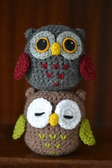 lechuzas tejidas al crochet cute