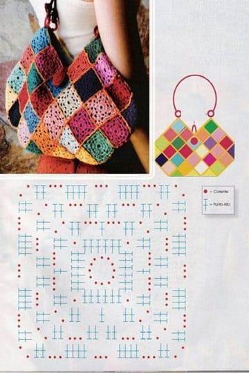 patrones de mochilas tejidas a crochet colores