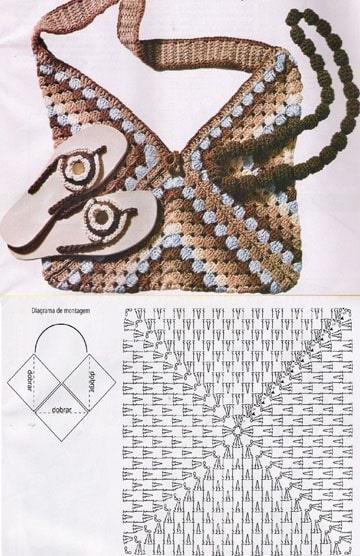 patrones de mochilas tejidas a crochet modelo