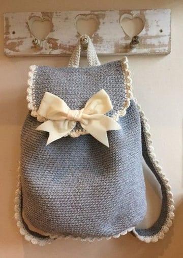 patrones de mochilas tejidas a crochet para niñas