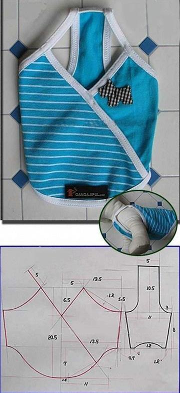 patrones para ropa de perro caliente