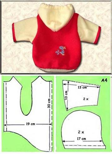 patrones para ropa de perro con capucha