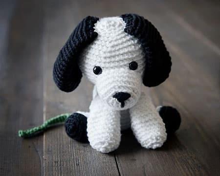 perro amigurumi paso a paso blanco y negro