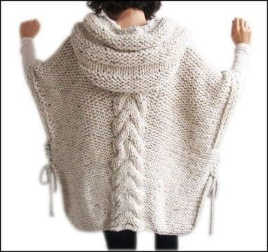 ponchos tejidos a dos agujas 2015