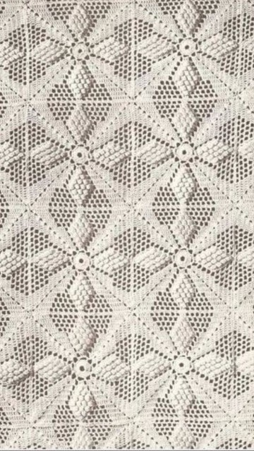 puntadas de crochet para colchas muestras