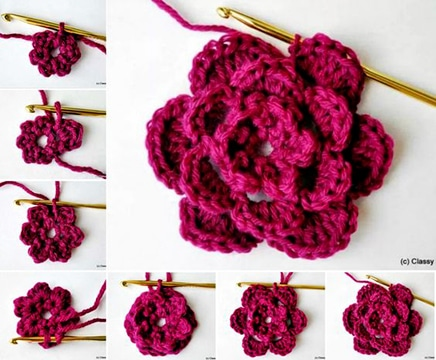 rosas tejidas a crochet paso a paso 2017