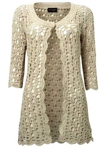 sacos tejidos a crochet para mujer clasico