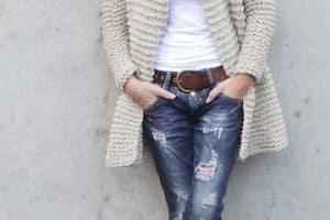 Delicados y elegantes sacos tejidos a crochet para mujer
