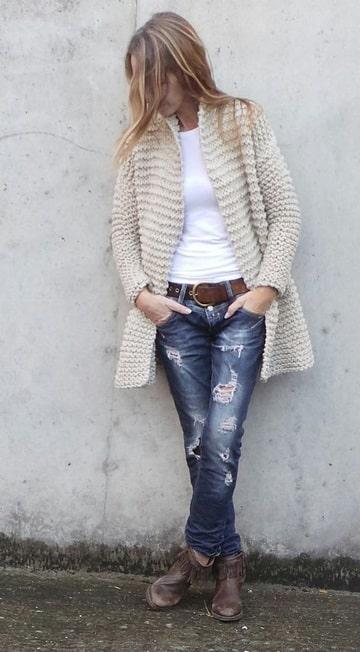 sacos tejidos a crochet para mujer modelo