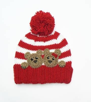 sombreros tejidos para niña a gancho