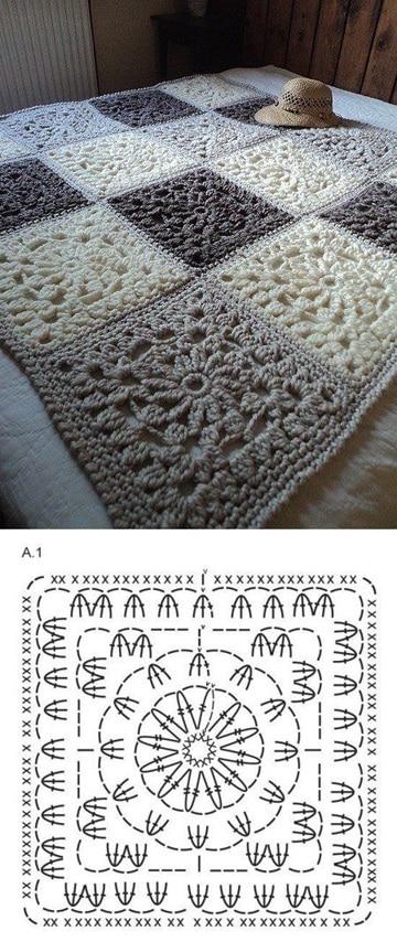 tapetes a crochet paso a paso cuadros